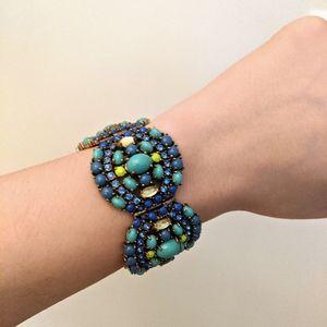 Stella and Dot chunky blue bracelet